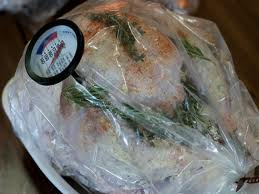 Turkey in plastic oven bag