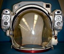 Plastic components of astronauts' helmet