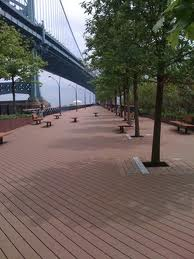 The post-Sandy boardwalks  surfaces will resemble that of the Race Street Pier in Philadelphia.