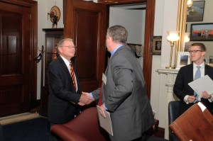 Sen. Jim Inhofe (R-Okla.) meets Dow Chemical's Jeff Wooster